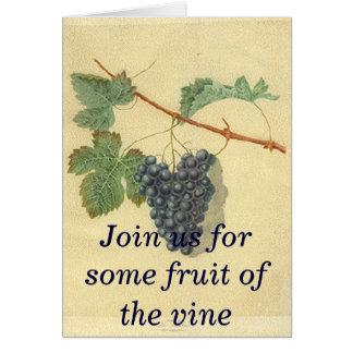 Invitation de partie de vin