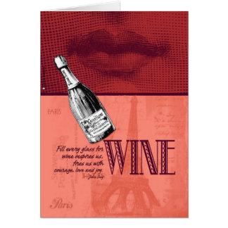 Invitation de partie de vin carte de vœux
