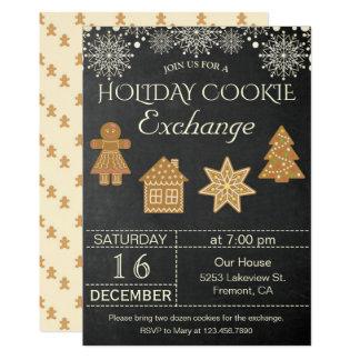Invitation de partie d'échange de biscuit de