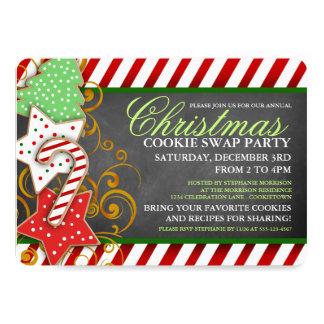 Invitation de partie d'échange de biscuit de Noël