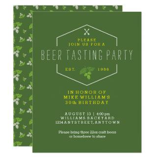 Invitation de partie d'échantillon de bière, 30ème
