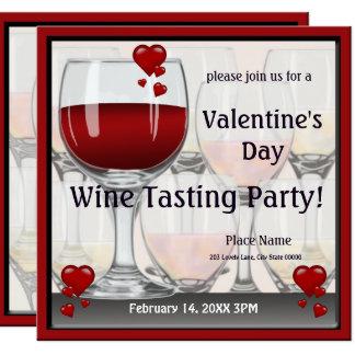 Invitation de partie d'échantillon de vin de