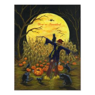 Invitation de partie d'épouvantail de Halloween