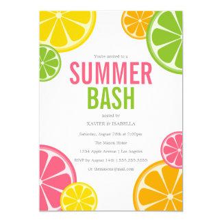Invitation de partie d'été du coup | d'été