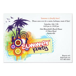 Invitation de partie d'été