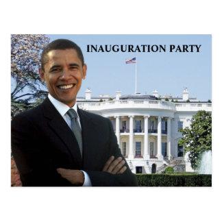 Invitation de partie d'inauguration d'Obama Carte Postale