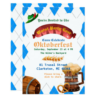 Invitation de partie d'Oktoberfest