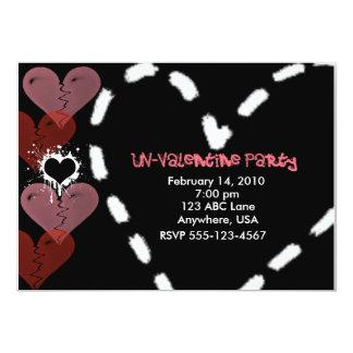Invitation de partie d'ONU-Valentine