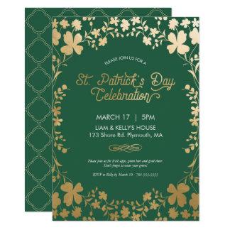 Invitation de partie du jour de St Patrick - carte