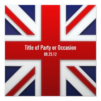 Invitation de partie d'Union Jack/invitation