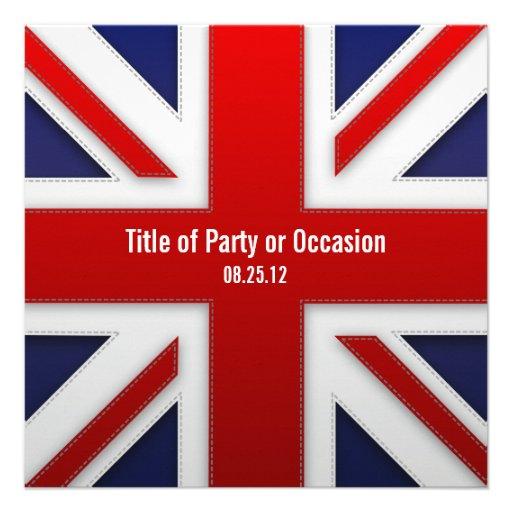 Invitation de partie d'Union Jack/invitation BRITA