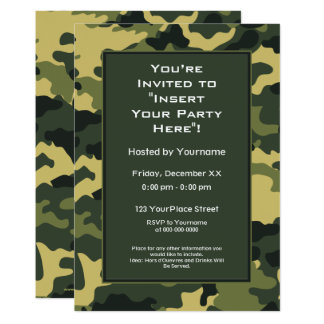 Invitation de partie : Les militaires verts