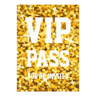 """Invitation de """"PASSAGE de VIP"""" de """"or"""" de tape-à-l"""