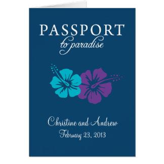 Invitation de passeport de la Floride d'île de