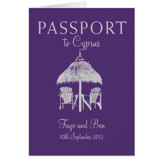 Invitation de passeport de mariage vers la Chypre