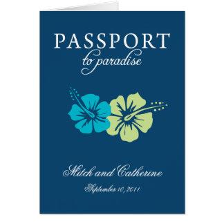 Invitation de passeport de mariage vers le Mexique