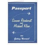 Invitation de passeport ou ligne aérienne d'Économ Carte De Vœux
