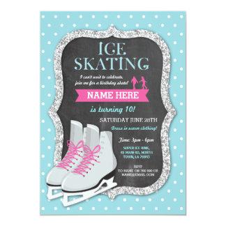 Invitation de patin de craie de fête