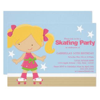 Invitation de patinage de fête d'anniversaire de