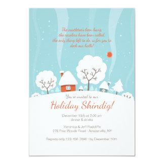Invitation de paysage d'hiver