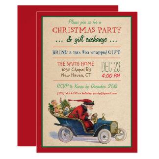 Invitation de Père Noël de vacances de Noël