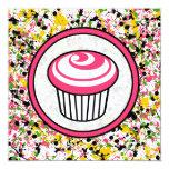 Invitation de petit gâteau - éclaboussure carton d'invitation  13,33 cm