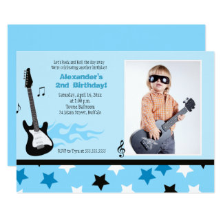 Invitation de photo d'anniversaire de balancier de