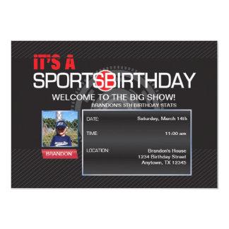Invitation de photo d'anniversaire de sports
