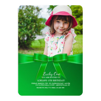Invitation de photo d'arc de vert de Kelly