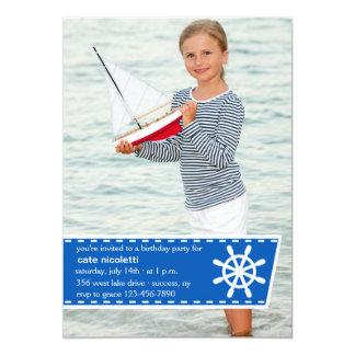 Invitation de photo de la vie de canotage carton d'invitation  12,7 cm x 17,78 cm