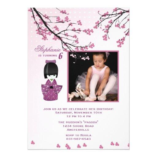 Invitation de photo de poupée de Kokeshi
