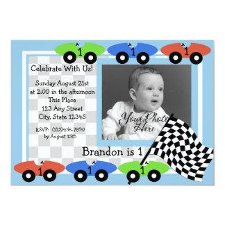 Invitation de photo de temps de course carton d'invitation  12,7 cm x 17,78 cm