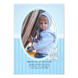 Invitation de photo d'éléphant de bébé