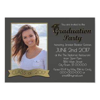 Invitation de photo d'obtention du diplôme