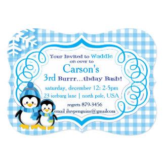 Invitation de pingouin dans le bleu