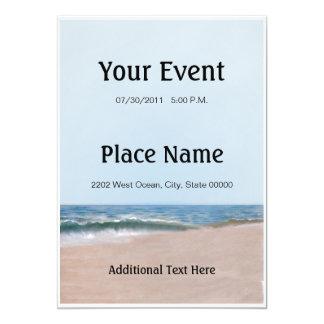 Invitation de plage de rivage d'océan