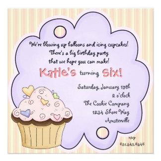 Invitation de plaisir de petit gâteau