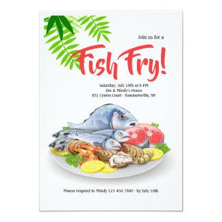 Invitation de plateau de fruits de mer