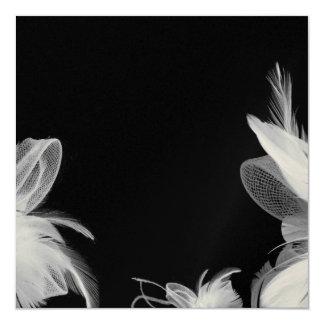 Invitation de plumes blanches