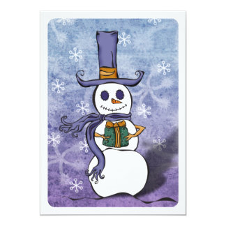 Invitation de présent de bonhomme de neige