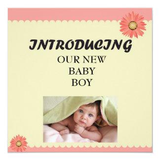 Invitation de présentation de bébé