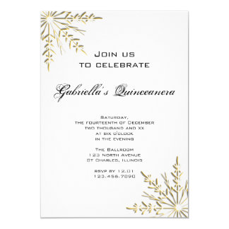 Invitation de Quinceanera d'hiver de flocon de