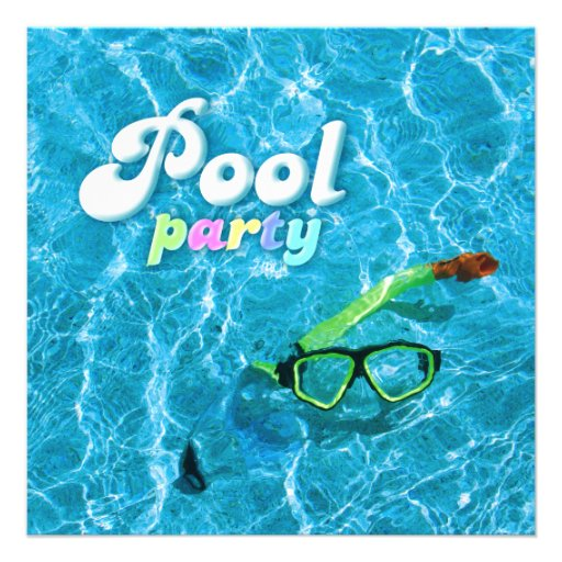 Invitation de réception au bord de la piscine