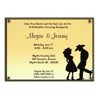 Invitation de réception de cow-girl et de cowboy