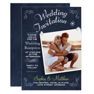 Invitation de réception de mariage de la photo |