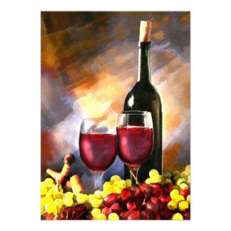 Invitation de récolte de vin
