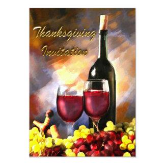 Invitation de récolte de vin de thanksgiving