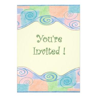 Invitation de remous de pastel