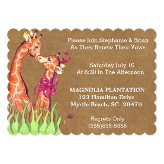 Invitation de renouvellement de mariage carton d'invitation  12,7 cm x 17,78 cm