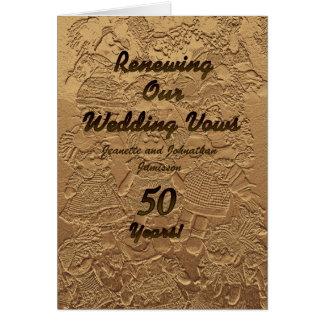 Invitation de renouvellement de voeu de mariage 50
